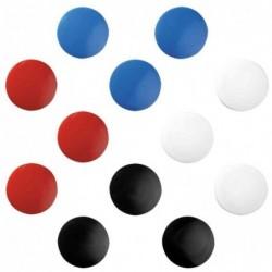 HERLITZ Blister de 10 aimants ronds diamètre 30 mm coloris noir rouge bleu OU blanc