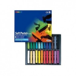 MUNGYO Boîte de 24 pastels tendres assorties Mungyo