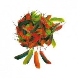 OZ INTERNATIONAL Lot de 80 plumes taille 12 cm couleurs automne