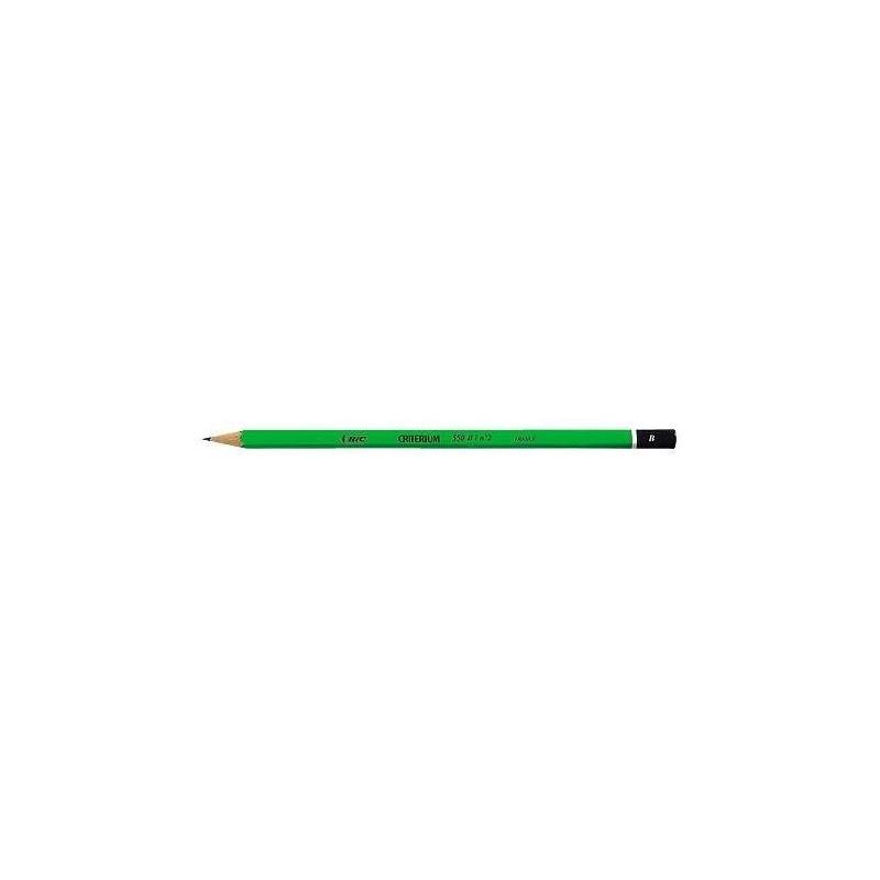 BIC Crayon papier graphite Hexagonal CRITERIUM 550 Mine B vert