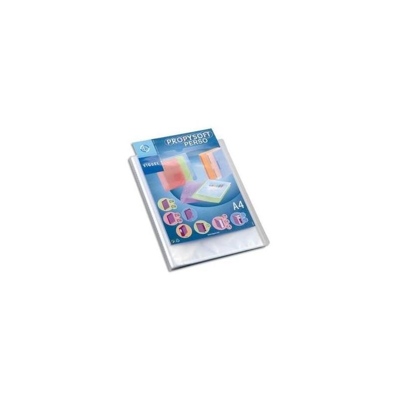 VIQUEL Protège document personnalisable 40 vues, 20 pochettes Propysoft incolore
