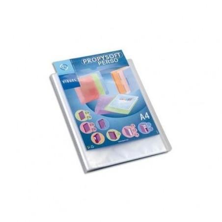 VIQUEL Protège document personnalisable 80 vues, 40 pochettes Propysoft incolore
