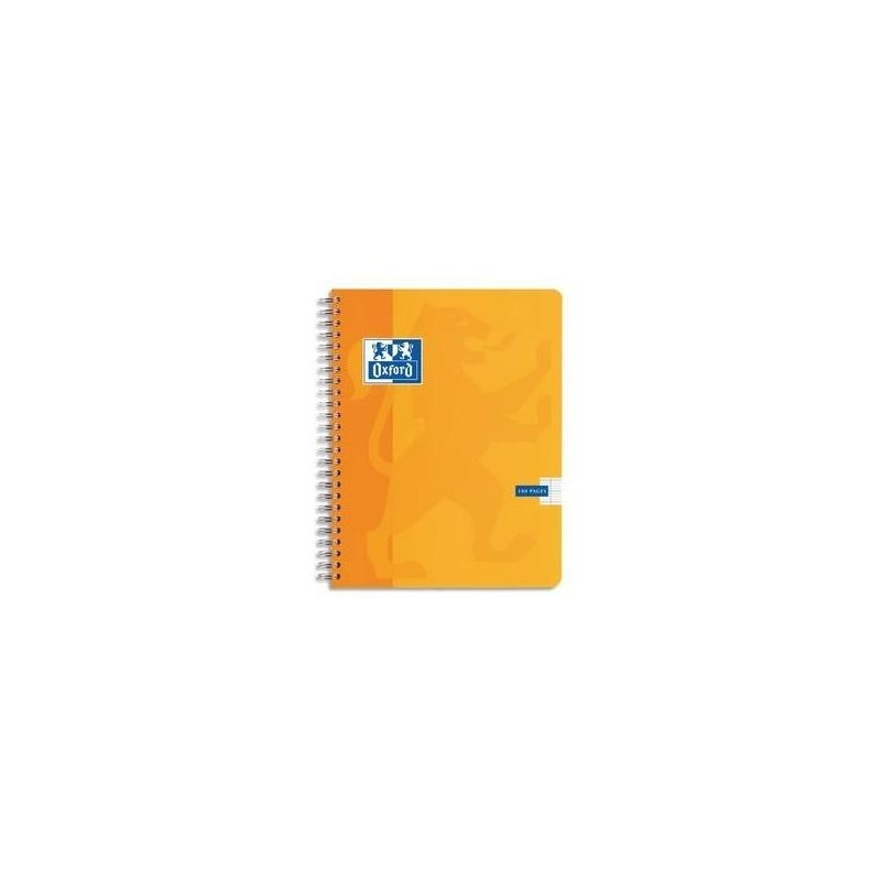 OXFORD Cahier ESSENTIAL Spirale 180 pages 5x5 17x22. Couverture carte