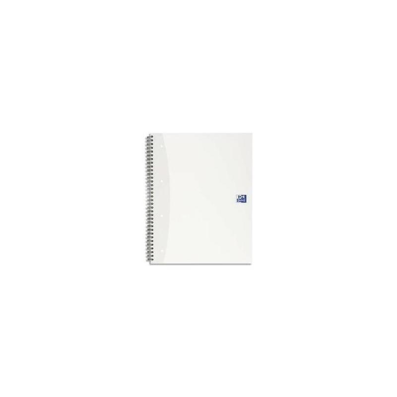 OXFORD Cahier spiralé SOHO A4 120 pages perforées  5x5 Couverture carte Aléatoire