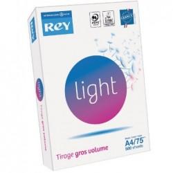 REY Ramette 500 feuilles LIGHT A4 75g Spécial gros Volume Blanc