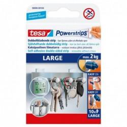 TESA Boîte de 10 Power Strip 5 cm x 2 cm supporte jusqu'à 2 kg