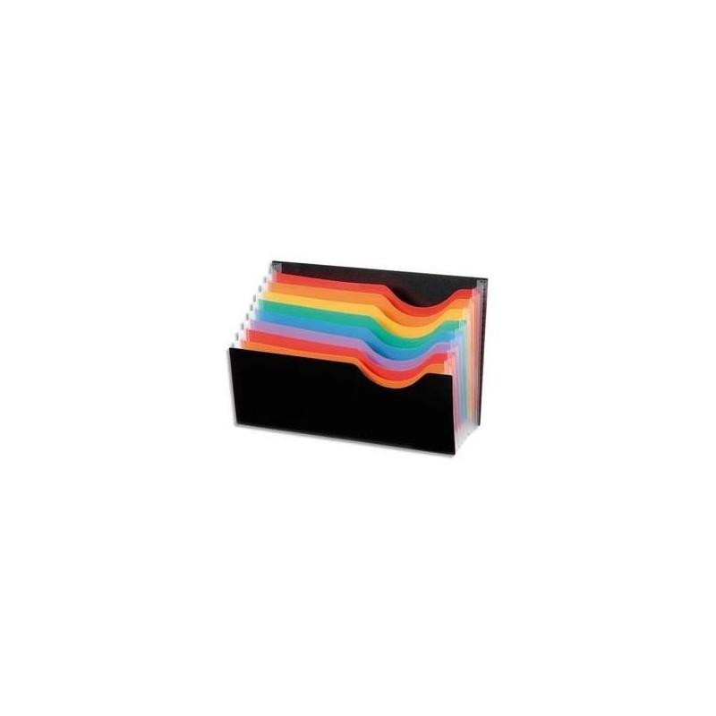 VIQUEL Porte courrier RAINBOW 9 compartiments en polypro 10/10ème, noir