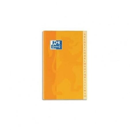 OXFORD Répertoire reliure brochure 14,8x21cm 192P petits carreaux papier 90g