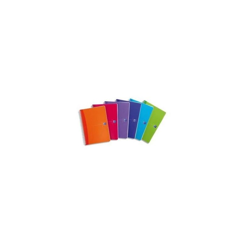 OXFORD My Color Cahier reliure intégrale A4 100pages 5x5 -Couvertures polypro assorties