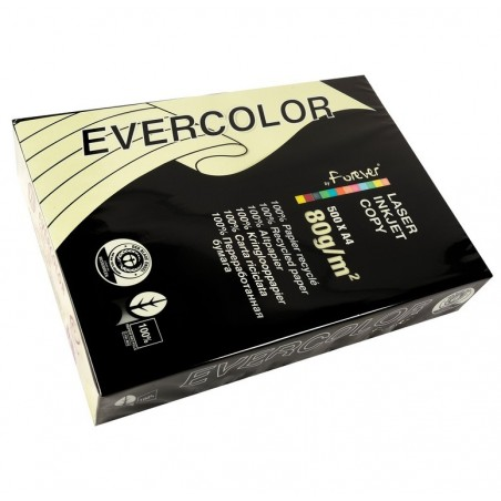 CLAIREFONTAINE Ramette de 500 feuilles papier couleur recyclé EVERCOLOR 80g A4 jaune canari