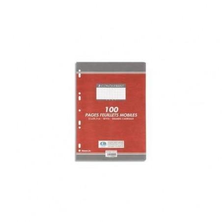 HAMELIN Feuillets mobiles 21x29,7 cm 100 pages grands carreaux blancs 70g - Sous étuis