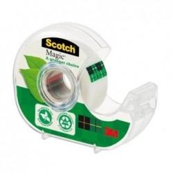 SCOTCH Dévidoir à main transparent en plastique recyclé 90% avec rouleau Magic recyclé