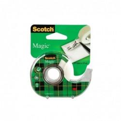SCOTCH Ruban Adhésif Magic Invisible 19mm x 15m Sur dévidoir plastique