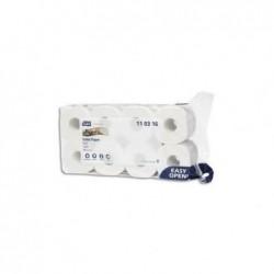 TORK Paquet de 8 rouleaux Papier toilette Traditionnel doux Premium 3 plis 250 f