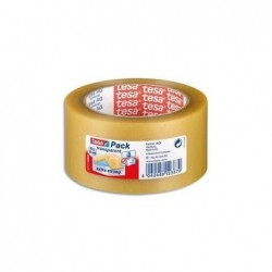 TESA Ruban adhésif PVC colle caoutchouc naturel 65 microns, H50 mm x L66 m transprent