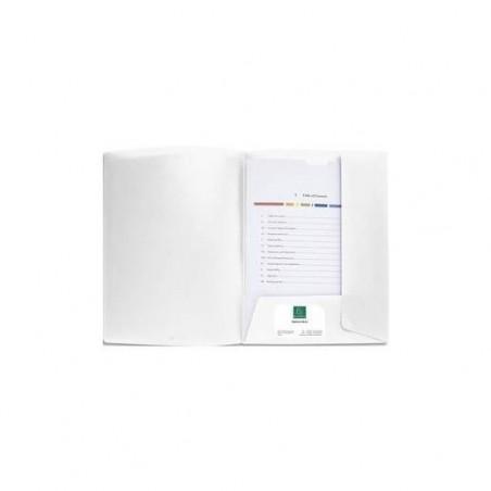 EXACOMPTA Chemise à 2 rabats personnalisable CARTOCOM En polypropylène. Coloris blanc.