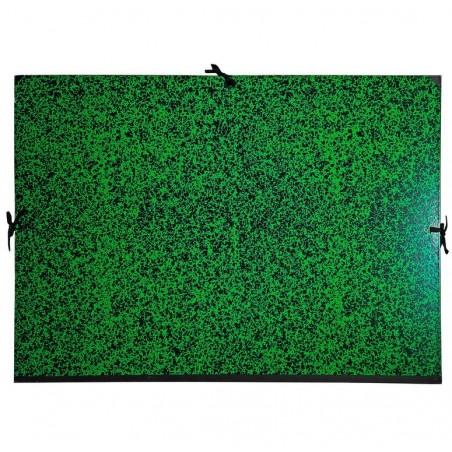 EXACOMPTA Carton à dessin Annonay avec 3 paires de cordons marbré vert 72x52 cm