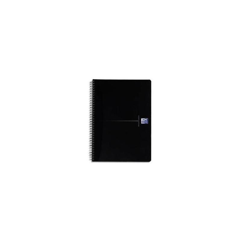 OXFORD Cahier BLACK spiralé 180 pages 5x5 14,8x21. Couverture carte