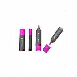 5 ETOILES Surligneur pointe biseautée coloris rose