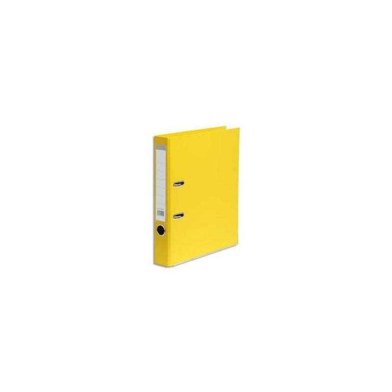 Classeur à levier en polypropylène dos de 5 cm jaune