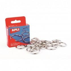 APLI Boite de 20 anneaux brisés métallique Diam 20 mm