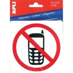 APLI Pictogramme portable interdit 114 x 114 mm