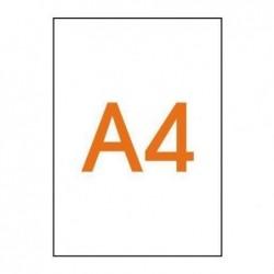 APLI Pochette 100 films transparents bande latérale 210 x 297 mm