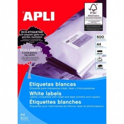 APLI Bte 500 F A4 7000 étiquettes Multi-usages Permanent 105x42,4 mm Blanc