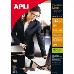 APLI Boite 100 feuilles papier photo mat PEFC 210 x 297 mm 120g