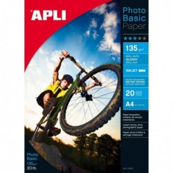 APLI Boite 60 feuilles papier photo brillant  210 x 297 mm