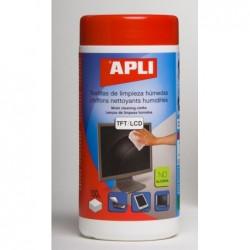 APLI Lingettes nettoyantes pour TFT et LCD - 100 unités
