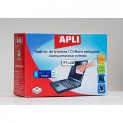 APLI Lingettes nettoyantes humide/sèche - 20 unités