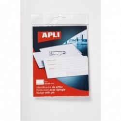 APLI Pochette de 5 badges avec pince combi  90 x 56 mm