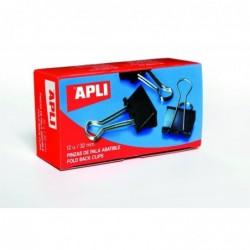 APLI Boîte de 12 pinces à clip 32mm 32 mm
