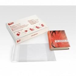 APLI Boîte100 couvre-livres sans adhésif avec rabat ajustable 300 mm
