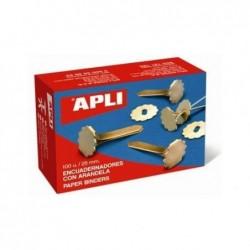 APLI Boîte de 100 Attaches parisiennes avec oeillets 40 mm