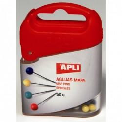 APLI Boîte distributrice plastique de 50 épingles d'affichage Pointe 18 mm