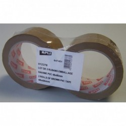 AGIPA Lot de 2 rubans emballage en PVC 48 mm x 66 m