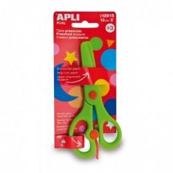 APLI Ciseaux préscolaires vert - lame en plastique de 13 cm Ciseaux
