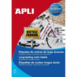 APLI Etui 20 étiquette A4...