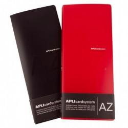APLI Porte cartes de visite en polypropylène, capacité 240 cartes 274x210 mm