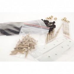 APLI Pack de 100 Sachets plastique refermable 60 x 80 mm zip