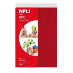 APLI Etui de 4 feuilles mousse effet serviette A4 assorties