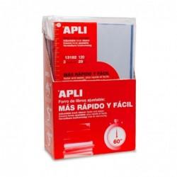 APLI Lot de 3 Couvre-livres transparent avec rabat  290 mm