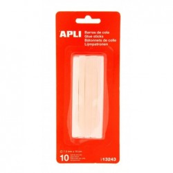 APLI Sachet de 10 bâtons de colle transparent  Ø 7,5 mm