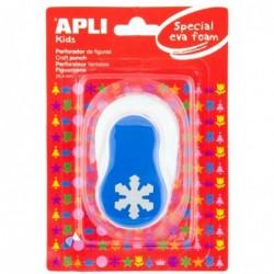 APLI Perforateur fantaisie mousse Flocon de neige Poinçon : 25,4mm