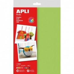APLI Sachet de 10 feuilles de feutrine couleurs assorties  210x297mm