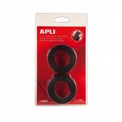 APLI Bande auto agrippante adhésive noire  20 x 1000 mm