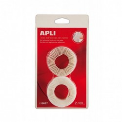 APLI Bande auto-agrippante adhésive blanche  20 x 1000 mm