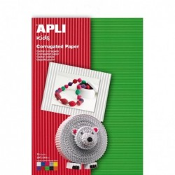 APLI Pochette 10 feuilles carton ondulé  210 x 297 mm Assorti